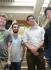 From left to right: Bhansali Prize Winner Nicholas Schiefer, Bhansali Prize Winner William Hoza, Professor Adam Wierman, Bhansali Prize Winner Bryan He