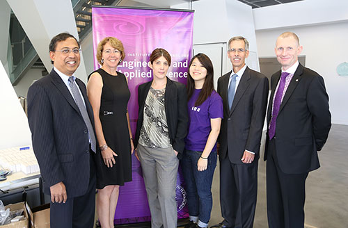 From left to right: Professor Ravichandran, Sandra Magnus, Professor Asimaki, Aileen Cheng, John Tracy, and Andrew Smart