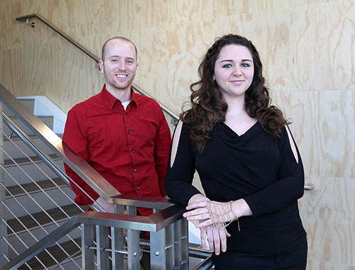 From left to right: Owen Kingstedt and Moriah Bischann