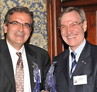 Ares Rosakis, Chair, Division of Engineering and Applied Science and Chair, Aerospace Historical Society, presented the award to Yannick d'Escatha.