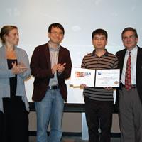 Susan Morse (Lemelson Foundation), Professor Changhuei Yang, Guoan Zheng, Chair Ares Rosakis