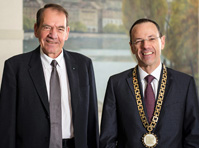 Professor Hornung with Rector of ETH Zurich Lino Guzzella