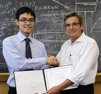Kevin Chen with EAS Division Chair Ares Rosakis