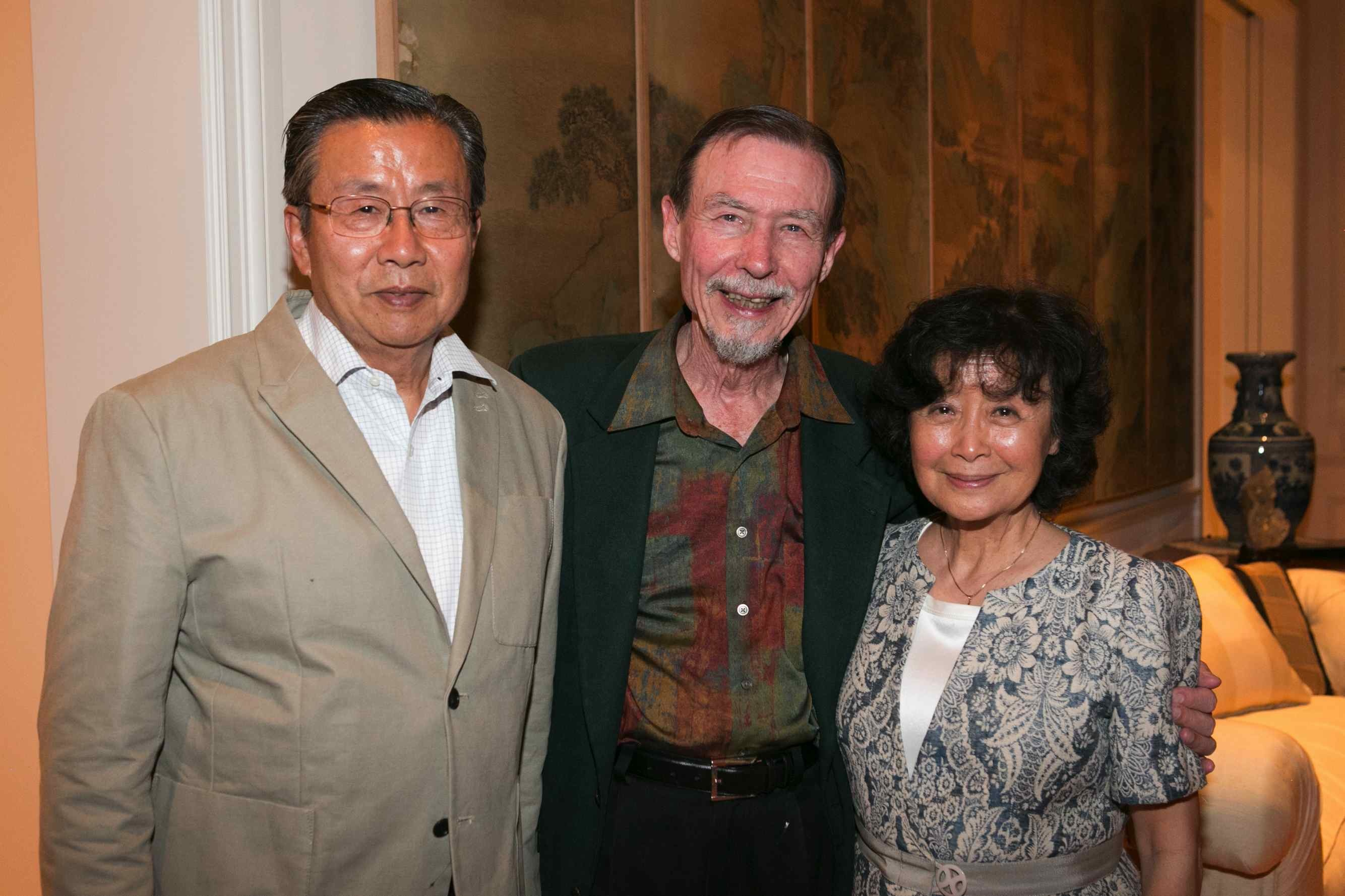 Milton and Rosalind Chang with Carver Mead