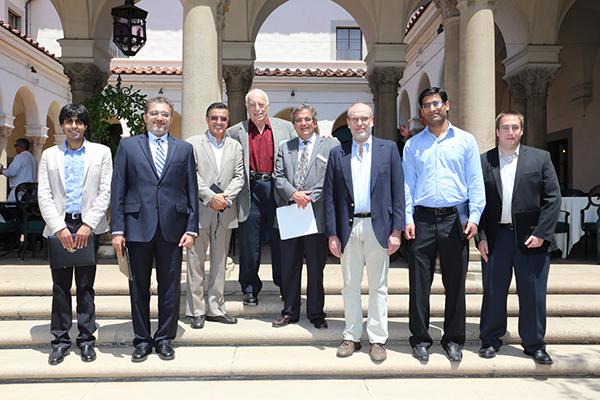 Left to right: Faisal Amlani, Imran Malik, Morteza Gharib, Sterge Demetriades, Ares J. Rosakis, Oscar Bruno, Muhammad Mujeeb-U-Rahman, Bradley Lyon
