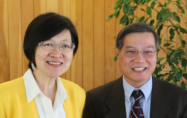Norman Kwong (PhD '86 Physics) and Juliana Wong