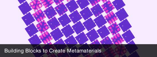 Building Blocks to Create Metamaterials