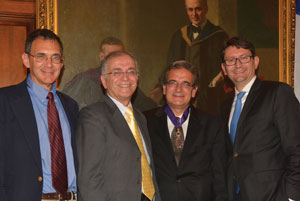 Left to right: Ed Stolper, Charles Elachi, Ares Rosakis, and Axel Cruau