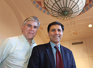 Professors Tanguay and Humayun of USC