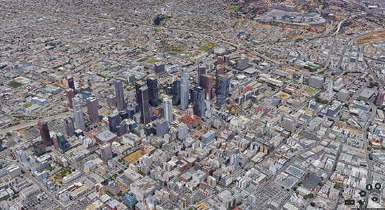 Google Earth view of Los Angeles