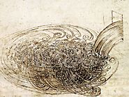 Turbulent flow by Leonardo da Vinci