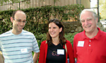Left to right: Postdoctoral scholars Ron Lavi and Dunia López-Pintado, and founding member of SISL (Social and Information Sciences Laboratory) John Ledyard, the Allen and Lenabelle Davis Professor of Economics and Social Sciences.