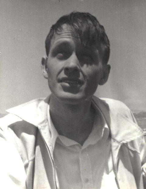 Francis Clauser sailing off Pacific Palisades.