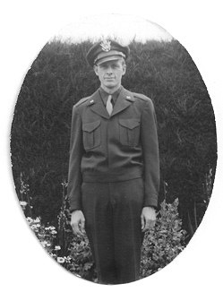 Francis Clauser, in uniform for Operation Paperclip, 1945.