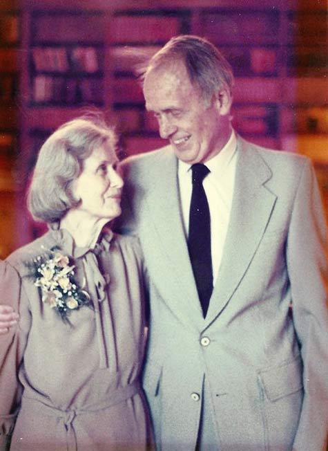 Francis Clauser, Golden wedding anniversary, 1987
