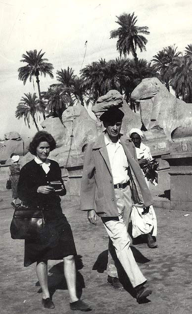 Catharine and Francis Clauser at Karnak.