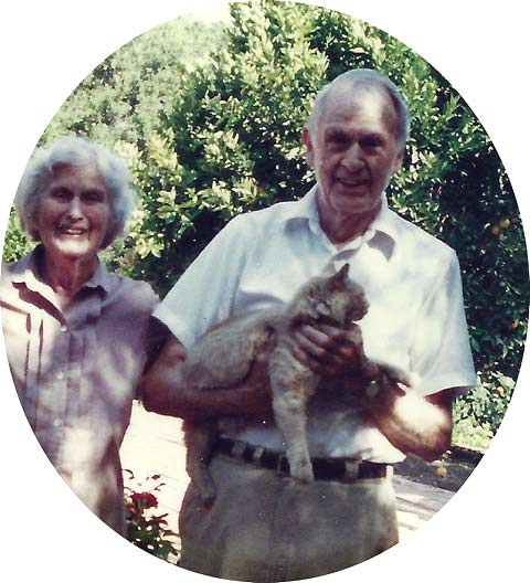 Catharine and Francis Clauser with Seti.