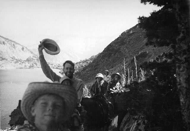 Francis Clauser, packing into the Sierra Nevadas with family and friends