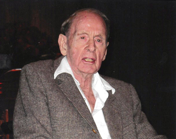 Francis Clauser, age 99, at Bob Christy's memorial, October 2012. Courtesy of Juliana Christy.