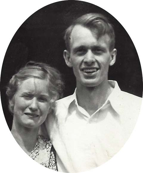 Francis Clauser - Newly wed, Francis and Catharine McMillan Clauser, circa 1938.