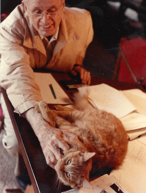Francis Clauser with Tiger.